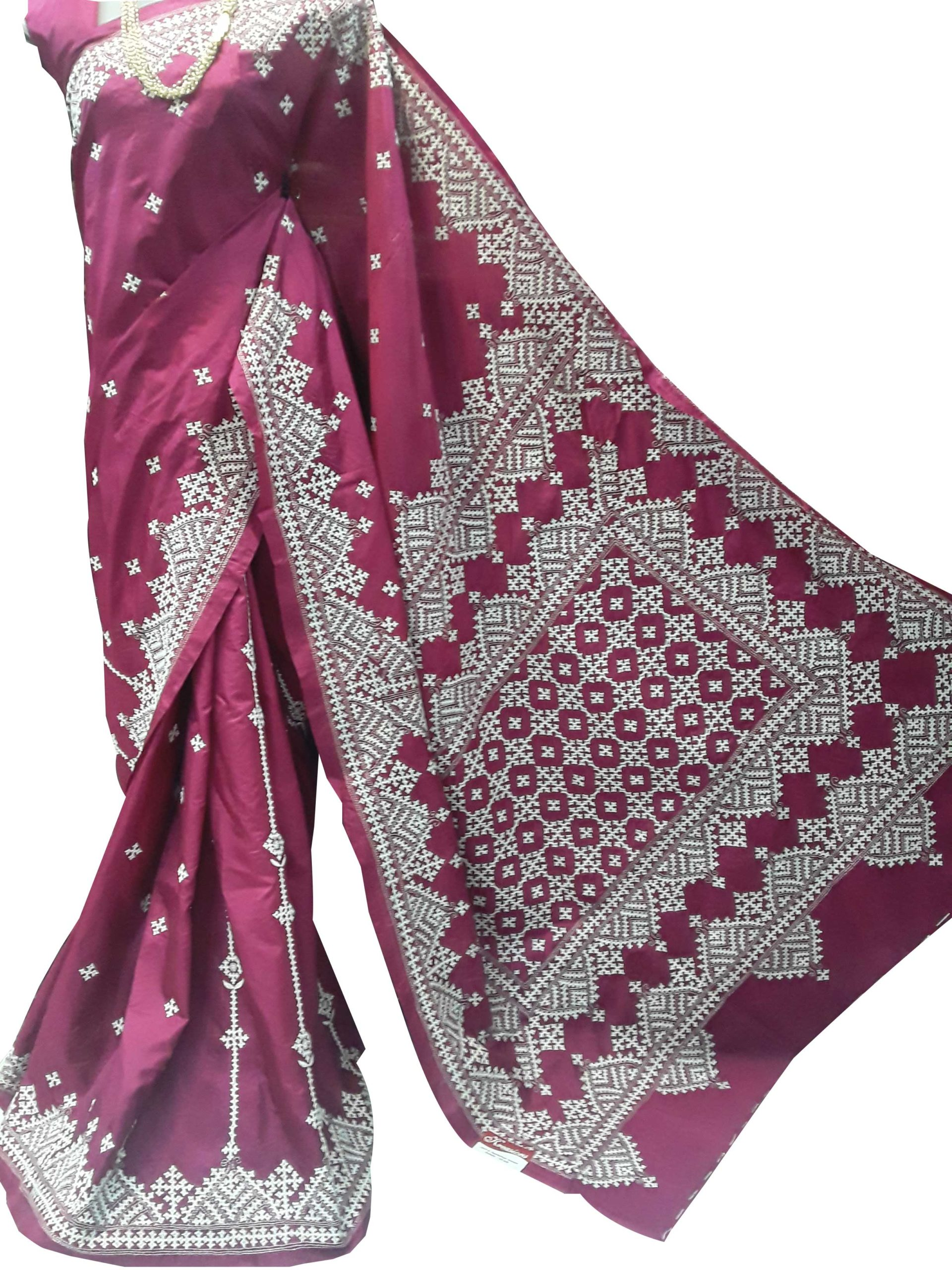 Gujrati hand embroideted Sarees 3