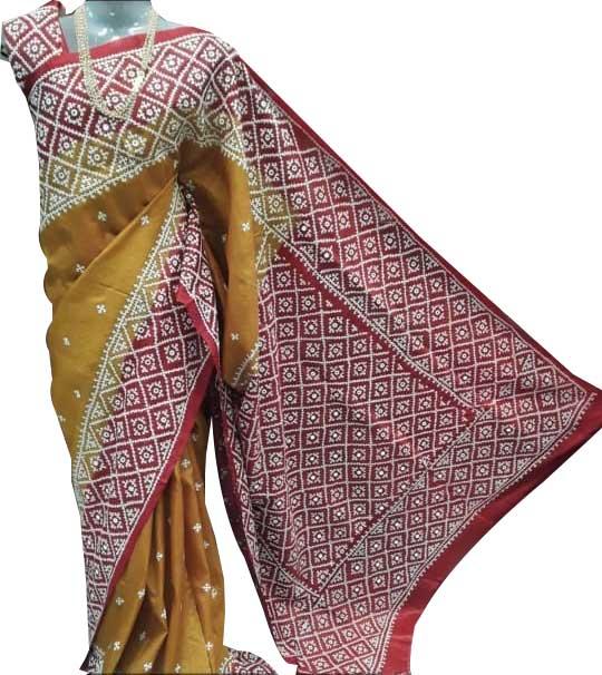 Gujrati hand embroideted Sarees 4